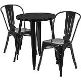 Flash Furniture 24'' Round Metal Indoor-Outdoor