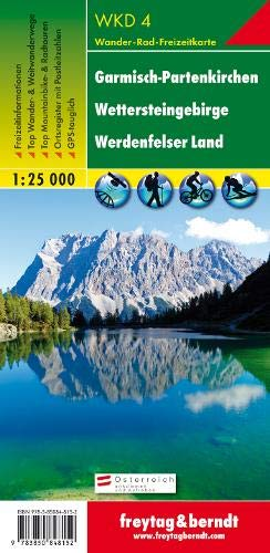 Map Of Germany Landforms.Germany Wkd4 Garmisch Hiking Map Collectif 9783850848152 Books