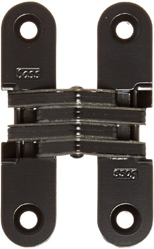 SOSS 208 Zinc Invisible Hinge with Holes for Wood or Metal Applications, Mortise Mounting, Black E-Coat Exterior Finish by SOSS