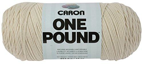 Caron One Pound Yarn, 16 Ounce, Off-White, Single (1 Lb)