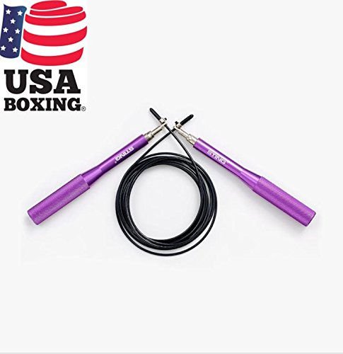 STING Viper Pro Speed Rope for Speed Jumping, Skipping Rope, Boxing, Crossfit, Fitness and Cardio – Purple, 9 ft