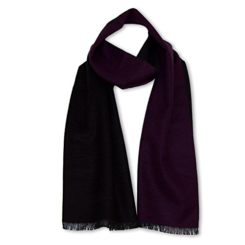 StrayKat Men's Silk Viscose Soft Reversible Scarf, Designer Gift Box, O/S - Purple (Reversible Silk Scarf)