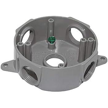 Carlon Pvc Round Outdoor Junction Box E365dr Electrical Boxes Amazon Com