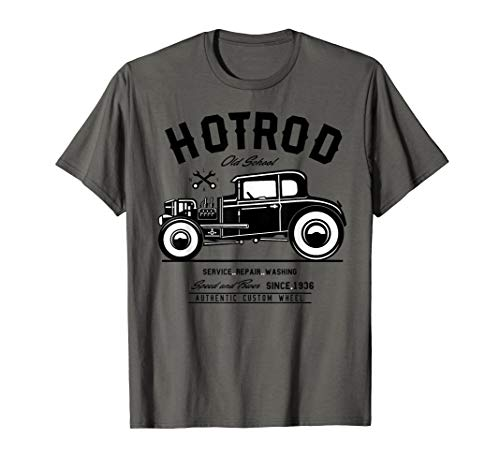 Vintage Hot Rod Old School Speed and Power Shirt for Men