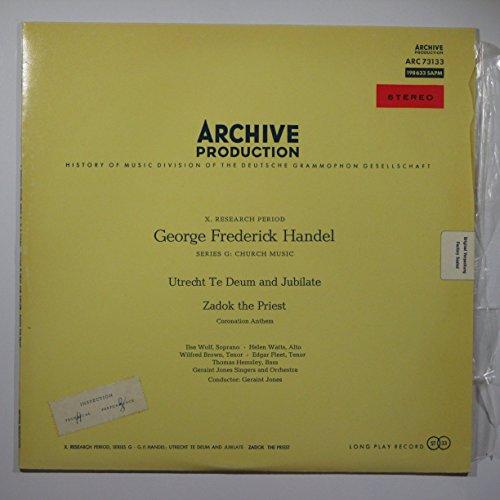 George Frederick Handel: Utrecht Te Deum and Jubilate / Zadok the Priest (X. Research Period. Series G: Church Music) (Utrecht Te Deum)