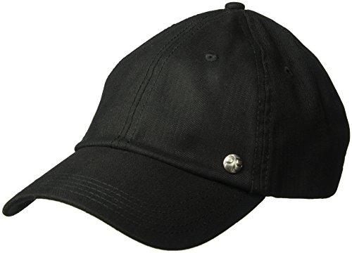 Perry Ellis Men's Double Herringbone Baseball Cap, Black, OSFA