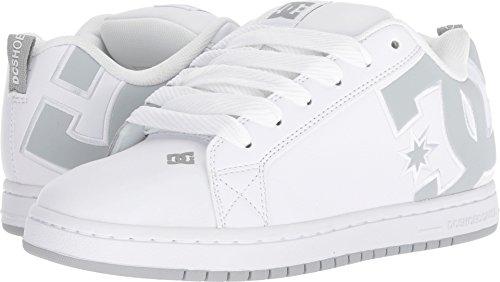DC Men's Court Graffik SE Skate Shoe, White/Grey/Grey, 10.5 Medium US