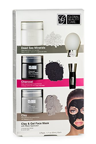 Dead Sea Minerals, Clay, Charcoal Gel Face Mask with Applicator ()