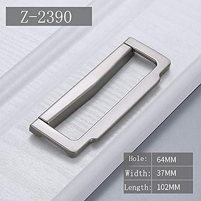 XOYOYO Tirador de puerta oculta Aleación de zinc Tatami Tirador empotrado Tiradores de puerta corredera Tirador de gabinete de dormitorio Tirador de muebles Herraje @ Z_-2390_-64: Amazon.es: Hogar