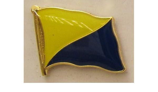 Pin diseño de la bandera de Gran Canaria España Flaggenpin Badge Andrés: Amazon.es: Hogar