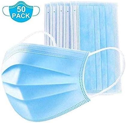 10 protectores quirúrgicos para la cara con bucles para los oídos, polvo médico, 3 capas