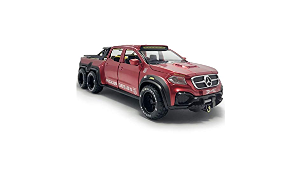 Details about  /1:28 X-Class 6x6 Pickup Truck Big Foot Model Car Diecast Toy Vehicle Silver Kids