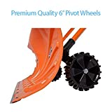 """Ivation Snow Pusher Shovel with Wheels, 26"""" Wide"""