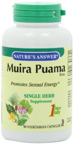 Natures Answer Muira Puama Bark (Nature's Answer, Muira Puama, Bark, 90 Veggie Caps by Nature's Answer)