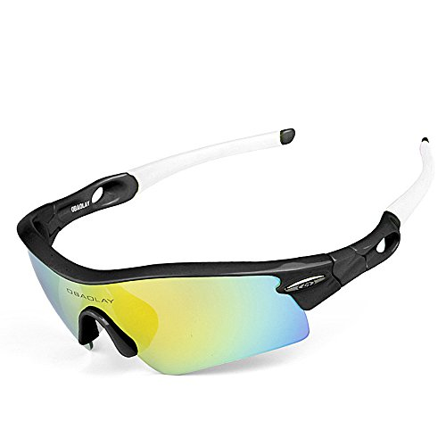 Lentes 1 Gafas Clarity de Exteriores Sun Glasses para WEATLY 1 polarizadas Hombres 1 01 Color de Sol protección para Yellow UV400 Black qSwwx10