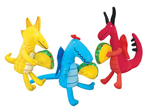 MerryMakers Dragons Love Tacos Mini Doll Set, Set of 3, 4.5 to 5.5-Inches - Mini Dragon Dragons