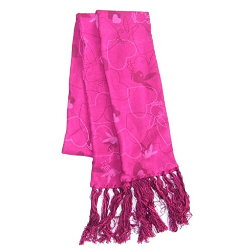 Playboy Bunny Merchandise (Playboy Charming Bunny and Heart Pink Scarf with Tassles)