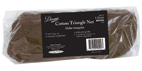 Diane D612 Cotton Triangle Net, Brown, 12 Count
