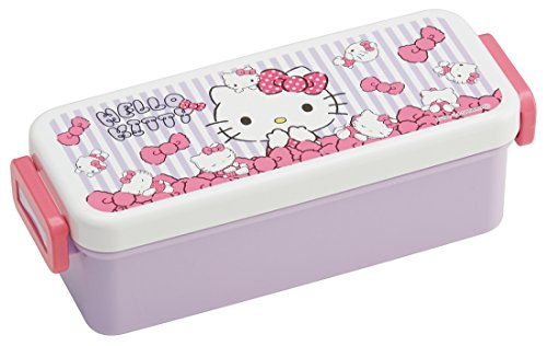 SKATER deep tight lunch box 540ml Hello Kitty stuffed toy...