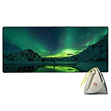 "Extended Gaming Mouse Pad / Mat, rnairni Large Office Gaming Table Desk Mat Mousepad for PC Computer Macbook iMac Keyboard Phone,Waterproof,Ultra Thin 2mm - 35""x15.7"""