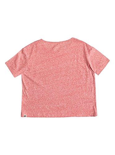 Roxy RG Fashion - Camiseta de cuello redondo para niñas Rosa (Bright pink)