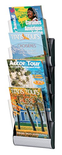 PaperFlow Maxi System Wall Display, 4 Pockets, 29x9.14x3.5 Inches, Letter Size, Aluminum - Letter Paperflow