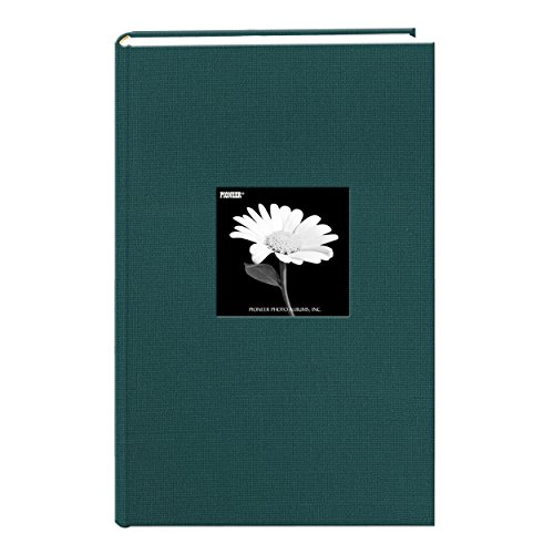 Fabric Frame Cover Photo Album 300 Pockets Hold 4x6 Photos, Majestic Teal (Thin Photo Album)