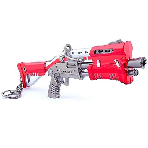Longhe Games Metal 1/6 Metal Heavy Red Tactical Shotgun Gun Model Figure Arts Toys Collection Keychain Gift