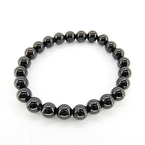 Elastic Bracelet, Black Tourmaline, 8mm¾ balls Vives Cortada