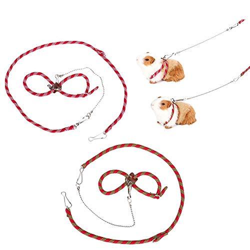 Adjustable Nylon Harness Vest and Leash Set Lead for Pet Dwarf Hamster Gerbil Rat Mouse Ferret Chinchilla Ferret…