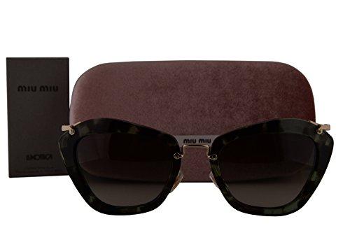 Miu Miu MU10NS Sunglasses Green Havana w/Green Gradient Lens UAG4K1 SMU10N MU 10NS SMU - Miu 10ns Miu Sunglasses