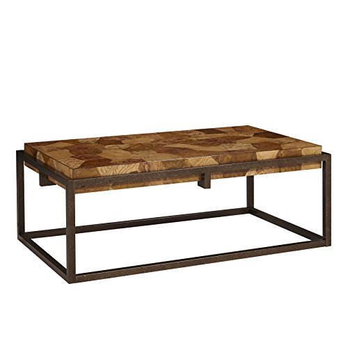 - The Amazing Home C105-01 burl Rectangular Coffee Cocktail Table, Metal