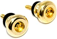 2pcs Metal Strap Lock Buttons End Pins with Mounting Screws For Electric Acoustic Guitar Bass Ukulele