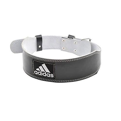 adidas Leather Weight Lifting Belt Ceinture de Cuir, Noir, XXL