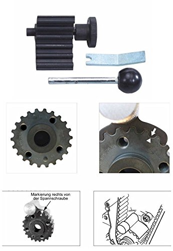 PMD Products Crankshaft Stop Lock Locking Alignment Tool w/pin tensioner is Compatible with Repair and Replace of Audi VW Volkswagen Engines by PMD Products (Image #1)