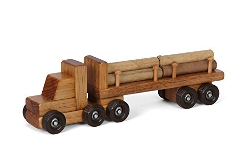 Amish Made Wooden Semi Log Truck