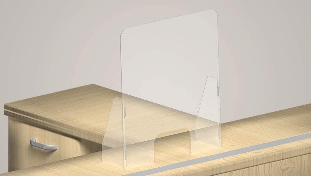 90x60cm transparente Mamparas de Protecci/ón de metacrilato-Policarbonato 3-4 mm Pantalla separadora metacrilato-Policarbonato/| Incluye patas/encajables/|/Elige entre los 4 tama/ños disponibles
