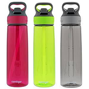 Contigo Autospout Addison Water Bottle, 24oz - Sangria, Citron & Smoke (3 Pack)