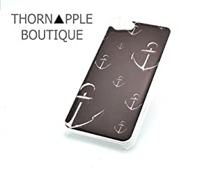 CLEAR Snap On Case IPHONE 5 Plastic Cover - MULTI WHITE ANCHOR marine sailor summer sketch hope