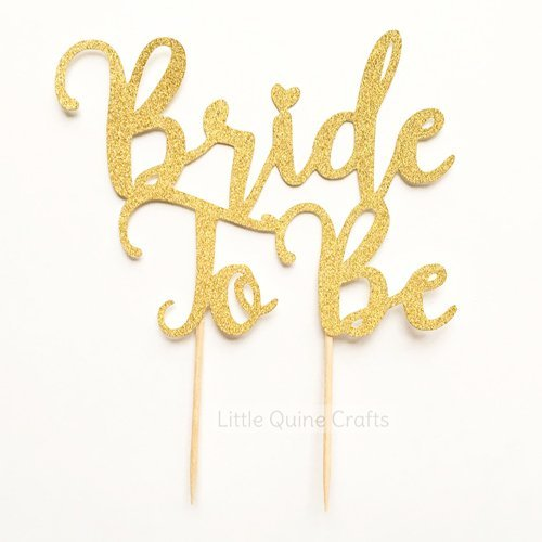 1 pc bride to be script fonts gold glitter wedding bridal shower bachelorette party cake topper