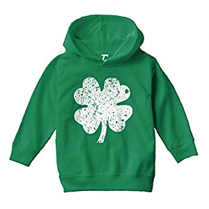 Distressed Four Leaf Clover – Luck Irish Toddler/Youth Fleece Hoodie