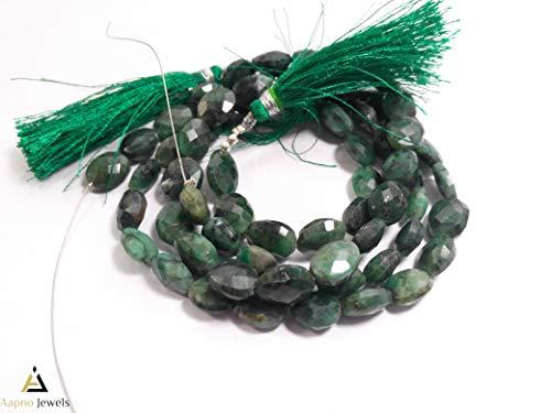 1 Strand Natural Beryal Emerald Loose Beads Strand, 7x10mm 13 Inch Faceted Oval Beryal Emerald Beads, Beryal Emerald Beads Necklace, Jewelry Making Beryal Emerald Beads, Knotted Emerald Necklace