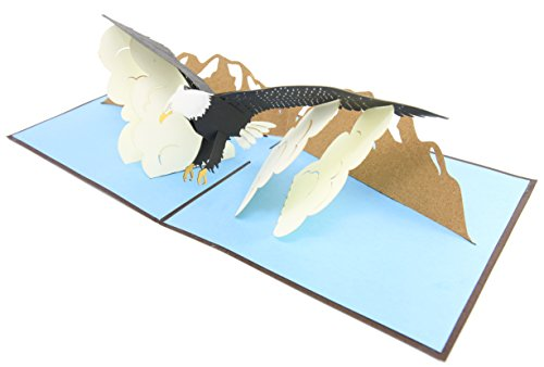 - PopLife Eagle Bird Pop Up Card, 3D Card for All Occasions - Eagle Scouts Birthday