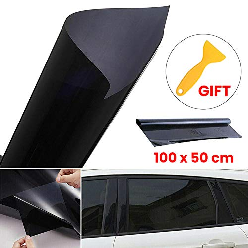 JUST N1 Solar Window Film Auto Privacy Glass Tint Sticker Sun Block Explosion-Proof Insulation Film Thick High Definition 1 Roll with Scraper