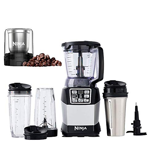 Ninja Nutri Ninja 40 Ounce Blender System + Spice & Coffee Grinder Attachment
