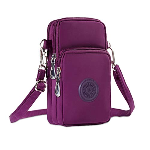 - WITERY Waterproof Nylon Cute Crossbody Cell Phone Purse Smartphone Wallet Bag for Women