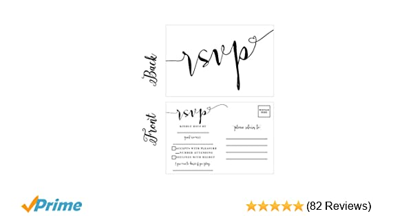 50 Blank RSVP Cards Postcards No Envelopes Needed Response Card Reply For Wedding Rehearsal Dinner Baby Shower Bridal Birthday