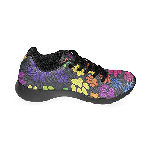 Footprints Athletic Lightweight Sneakers Shoes Women's Running Bright Casual 15 Size US InterestPrint Pattern 6 Animal On Print pwEUvFqPx