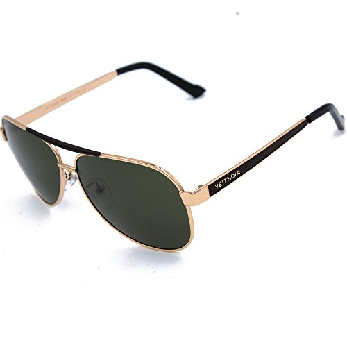 VEITHDIA 3152 High Grade Classic Polarized Aviator Sunglasses 100 UV Protection - Sunglasses Sales Online