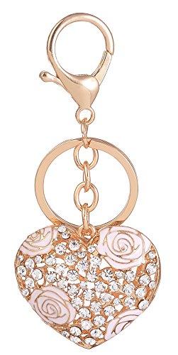 Handbag Charm Key - Giftale Heart Handbag Charms Accessories Purse Keychain for Women,#41820B